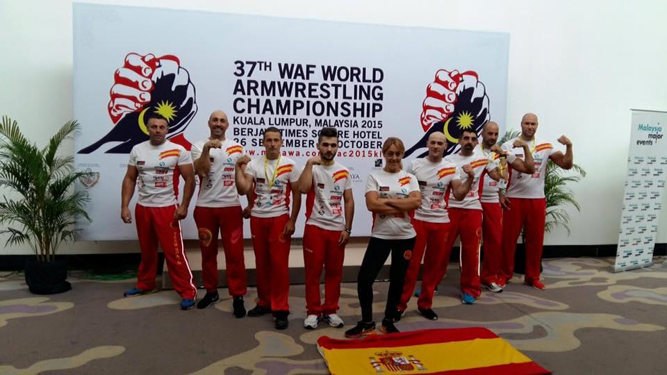 Equipo español mundial 2015 lucha de brazos